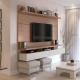 Painel para Home TV City 160 cm - Natural c/ Off White Brilho - Província