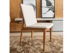 Cadeira Clau Lx com revestimento Caramelo