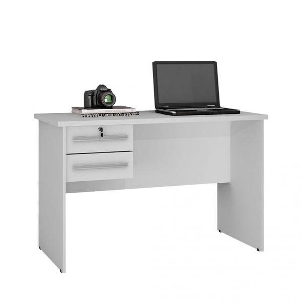 Mesa Computador Byte Branco 2 Gavetas Byte - Valdemóveis
