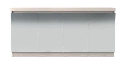 Buffet Truzzi Espelhado 160 cm Off white fosco cinamomo