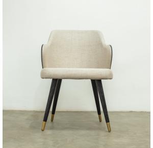Cadeira Amelie Ebanizada com ponteira Dourada TEC FTE 281 CTA 202 - Jhovini