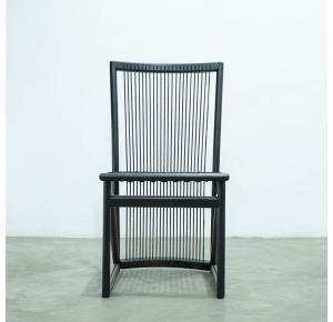 Cadeira Izzi Preta Corda Red Preto Sem Tecido - Ozki