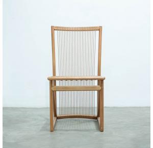 Cadeira Izzi Cedro Corda Red Canela Sem Tecido - Ozki