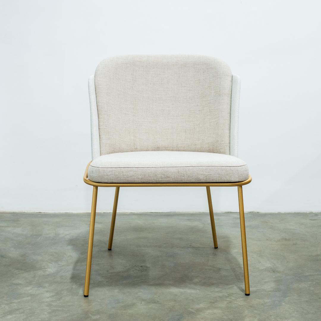 Cadeira Oslo Base Metal Dourada T-3013 TEC COSTAS 2061 - Suffa
