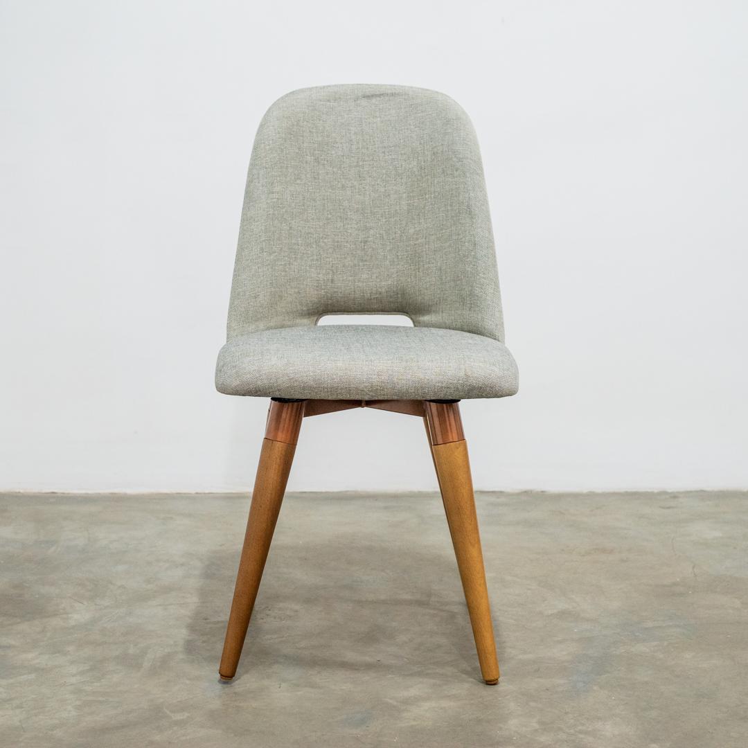 Cadeira Selina Giratória Linho Linked 35 Moka  Cobre Cinamomo - Província