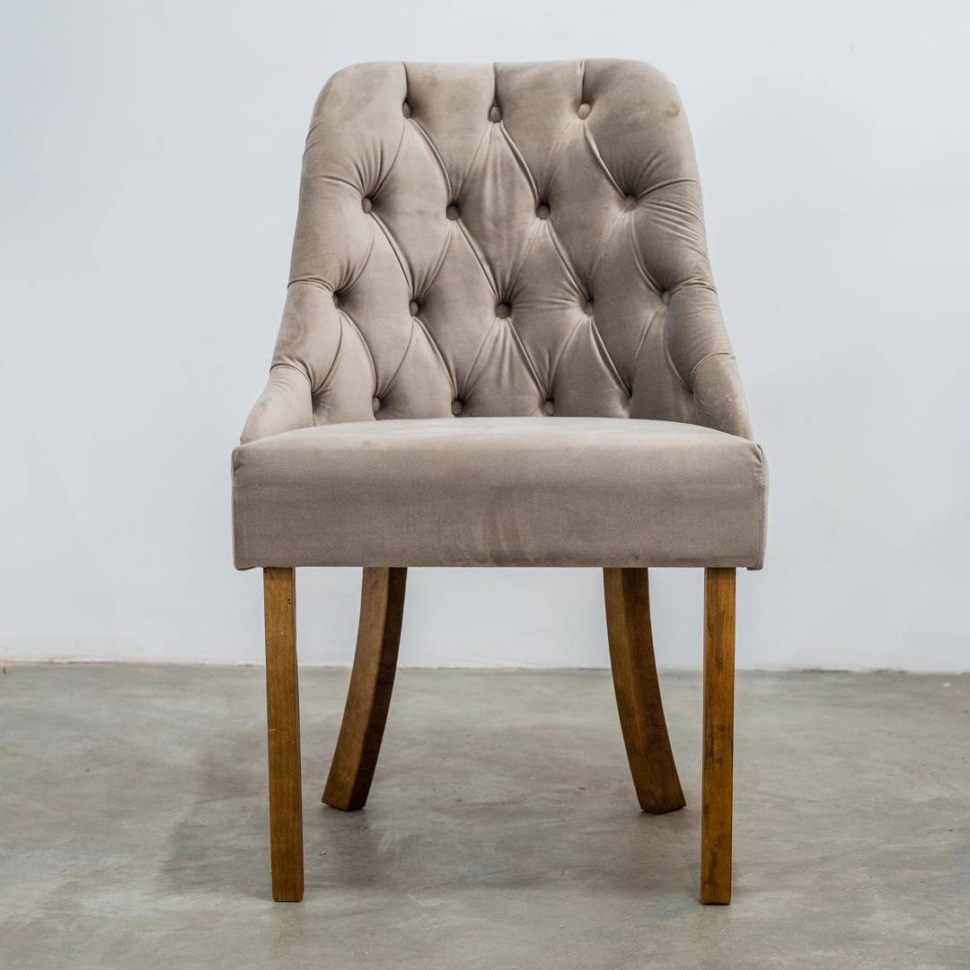 Cadeira Rafaela Luxo Tec 0402 Imbuia - Minas Decor