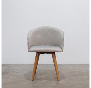 Cadeira Kari Giratória Linho Linked 35 - Província