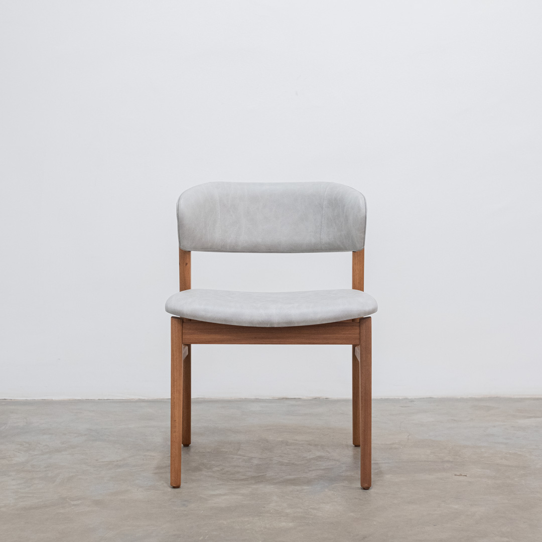 Cadeira para mesa de jantar Fly recouro cinza - Gottems