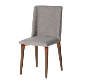 Cadeira Thyra Linho - Mescla Cinza - Cobre - Natural - Província