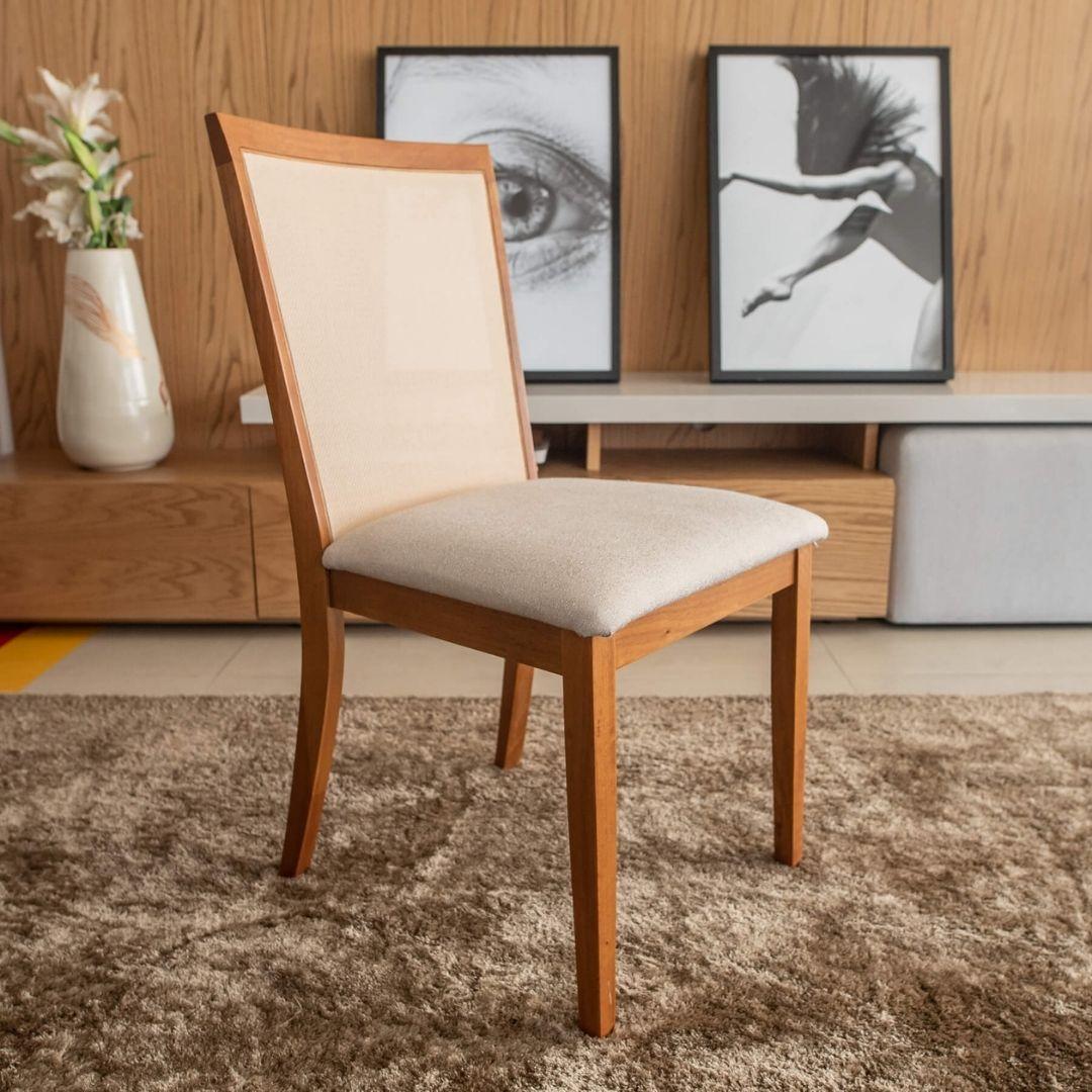 Cadeira Barcelona  encosto com tela