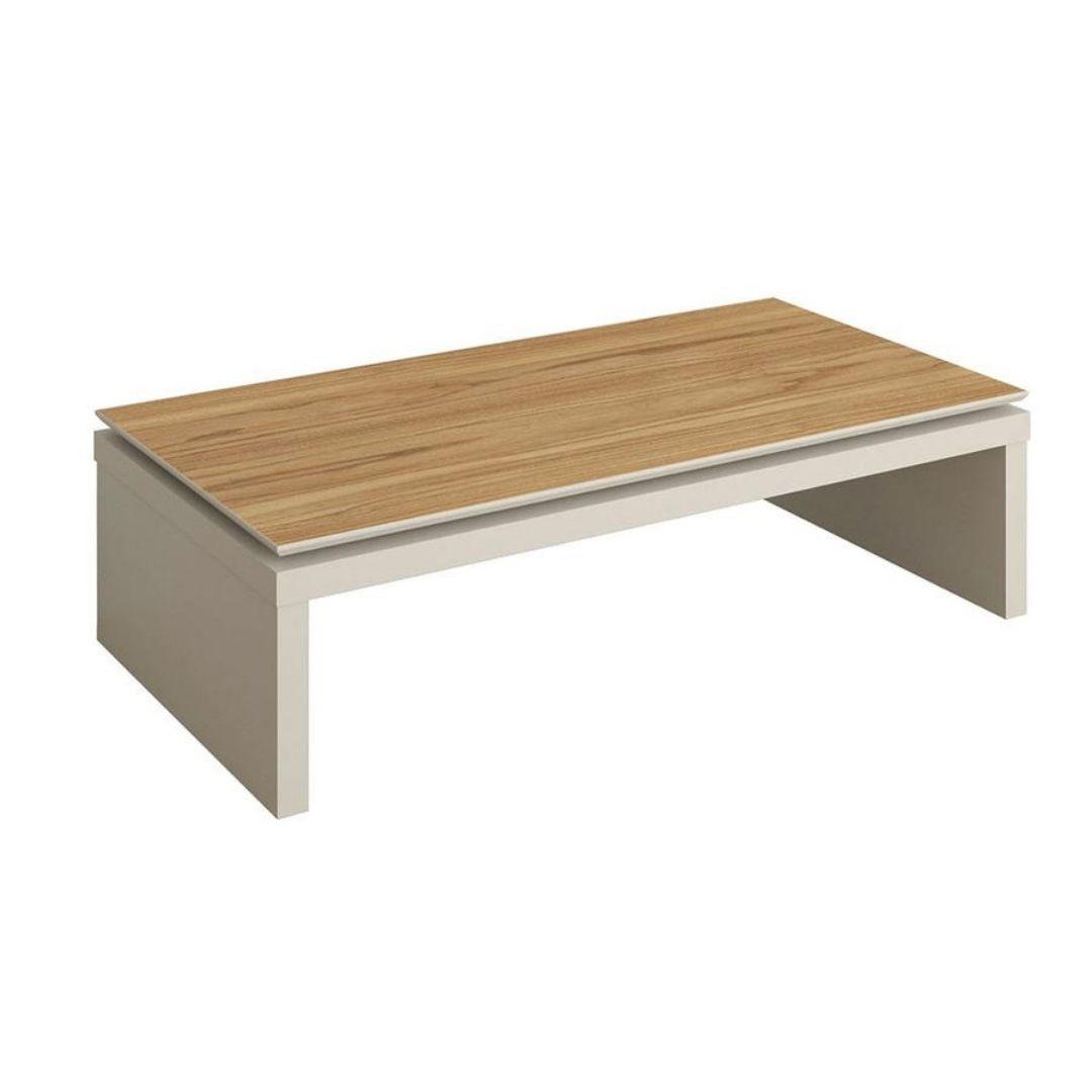 Mesa de Centro New Lincoln 120 cm - Cinamomo c/ Off White Fosco- Província