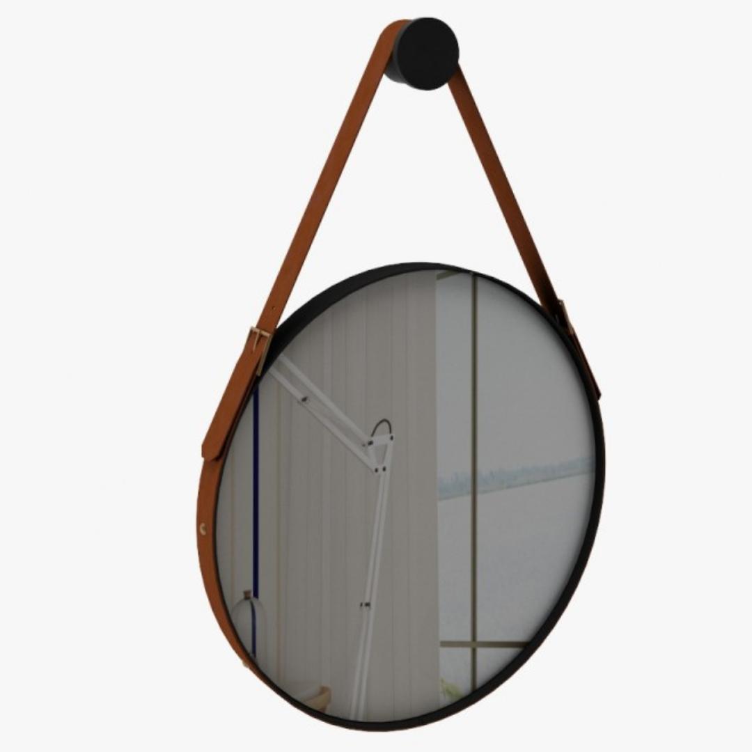 Espelho Redondo Ônix 70cm - Rudnick