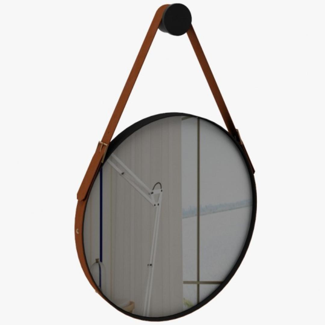 Espelho Redondo Ônix 50cm - Rudnick