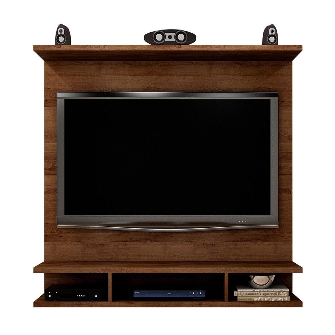Painel para TV Bari 120cm Canela com Suporte - Novo Horizonte