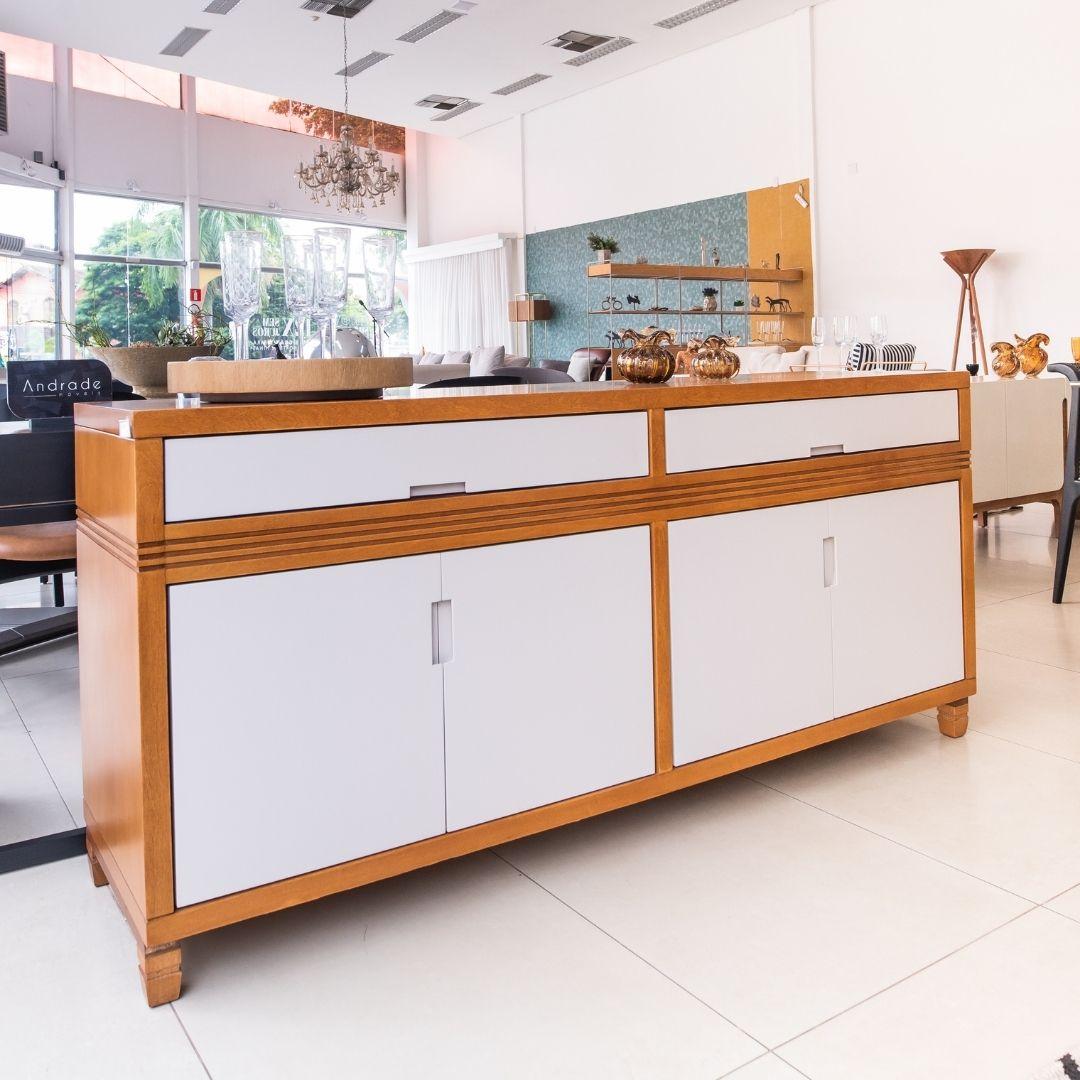 Buffet Locatelle 180cm Mel com Off White - Parma Móveis