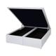 Cama Box Baú King (193x203x39) Sommier Corino Branco Ortobom