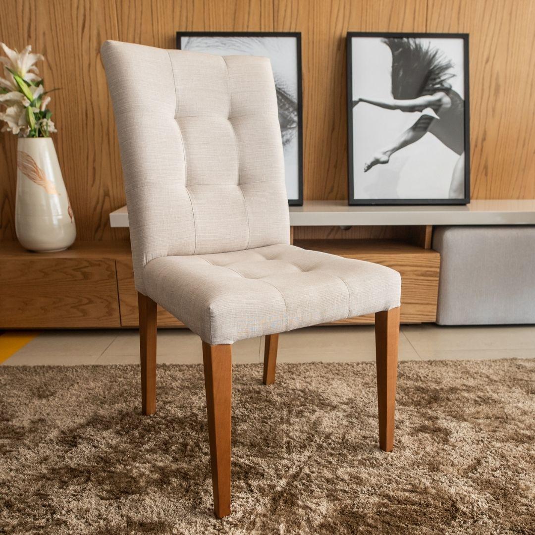 Cadeira Nice LX com Pegador nas Costas Noce TEC.P.08.001 - Pollus