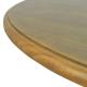 Mesa Armação Redonda 120cm Cor Oregon - ArteFama