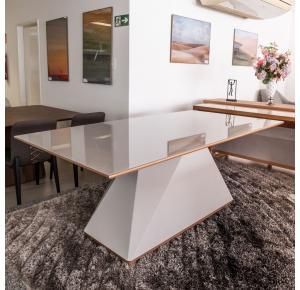 Mesa de Jantar Diamond  Laca Off White 200cmX100cm - Sier Móveis
