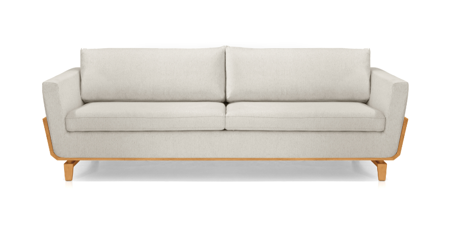 Sofá Itambé bipartido 2400mm, tecido cinza